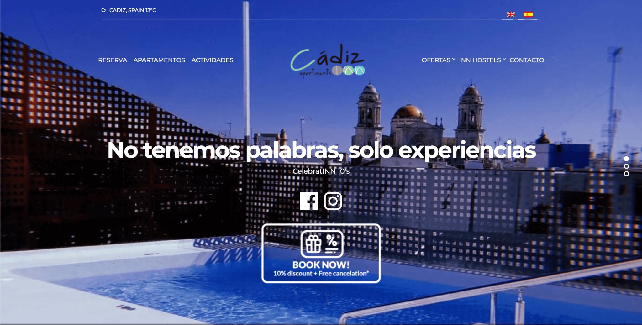 web hoteles cadiz