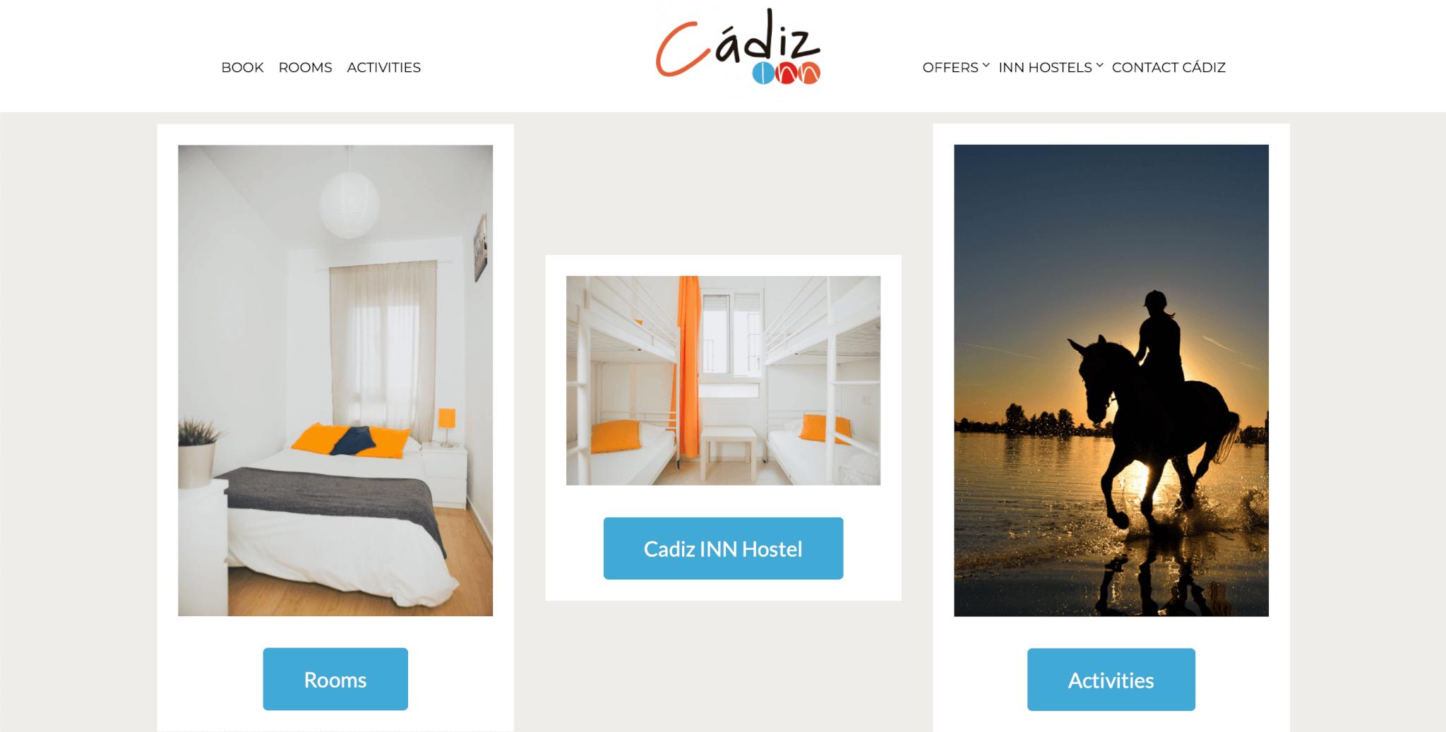 plantilla web hoteles