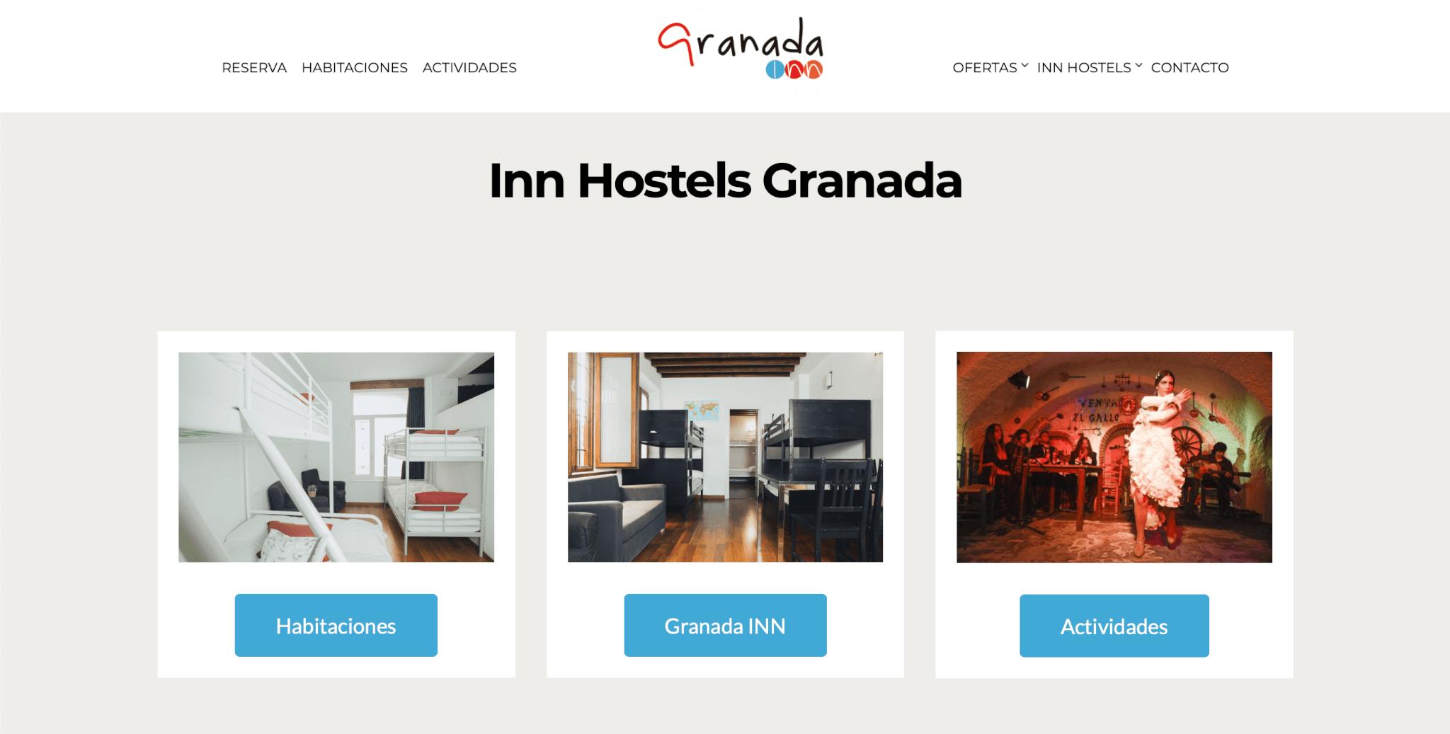 web hoteles granada